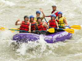 Whitewater rafting on the River Findhorn