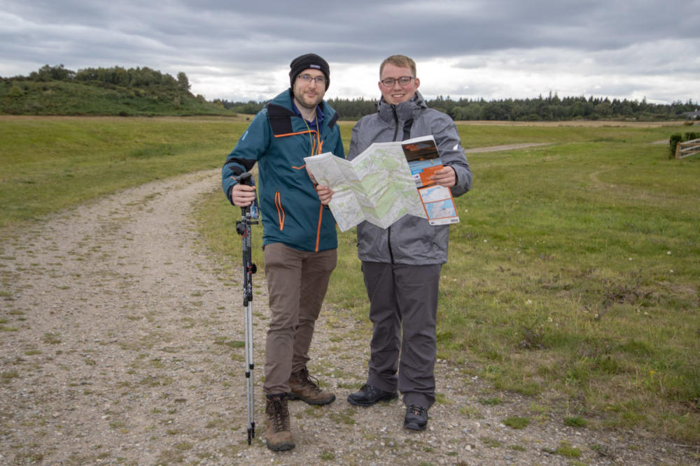 AES Solar employees Grant Feasey (left) and Cameron Duncn. Picture: Marc Hindley