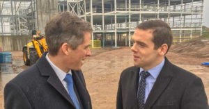 Douglas Ross with Gavin Williamson, Secretary of State for Defence