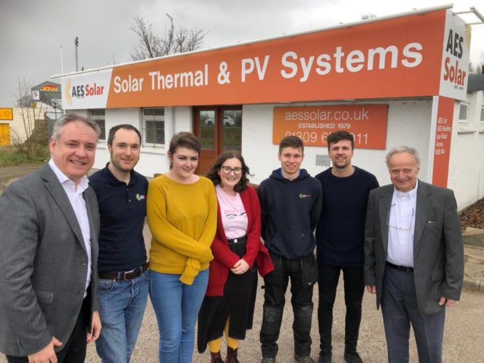 Richard Lochhead visited AES Solar
