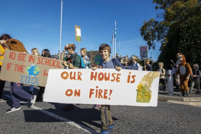 Forres Climate protest