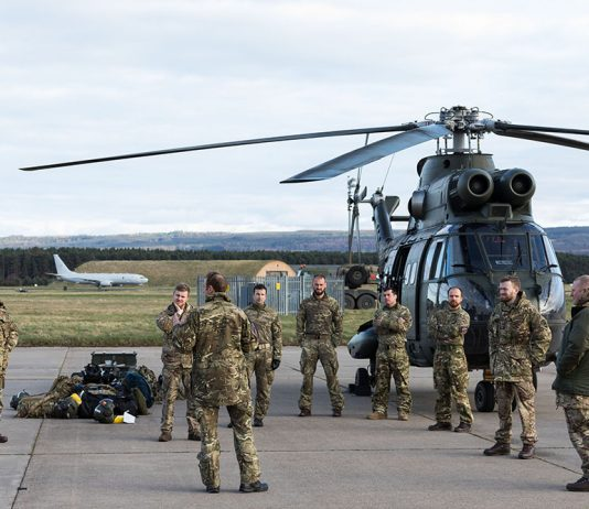 RAF Puma helicopters arrive at Kinloss to support MACA