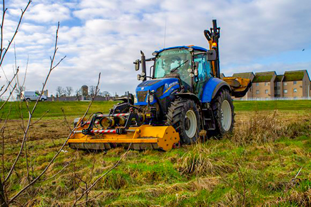 Grass cutting in Forres