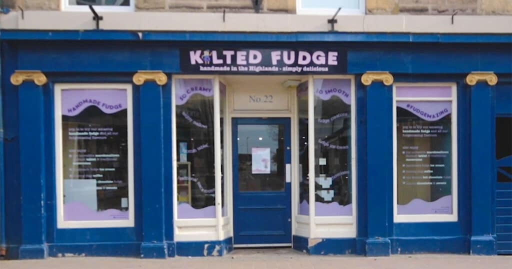 Kilted Fudge Closed in Forres