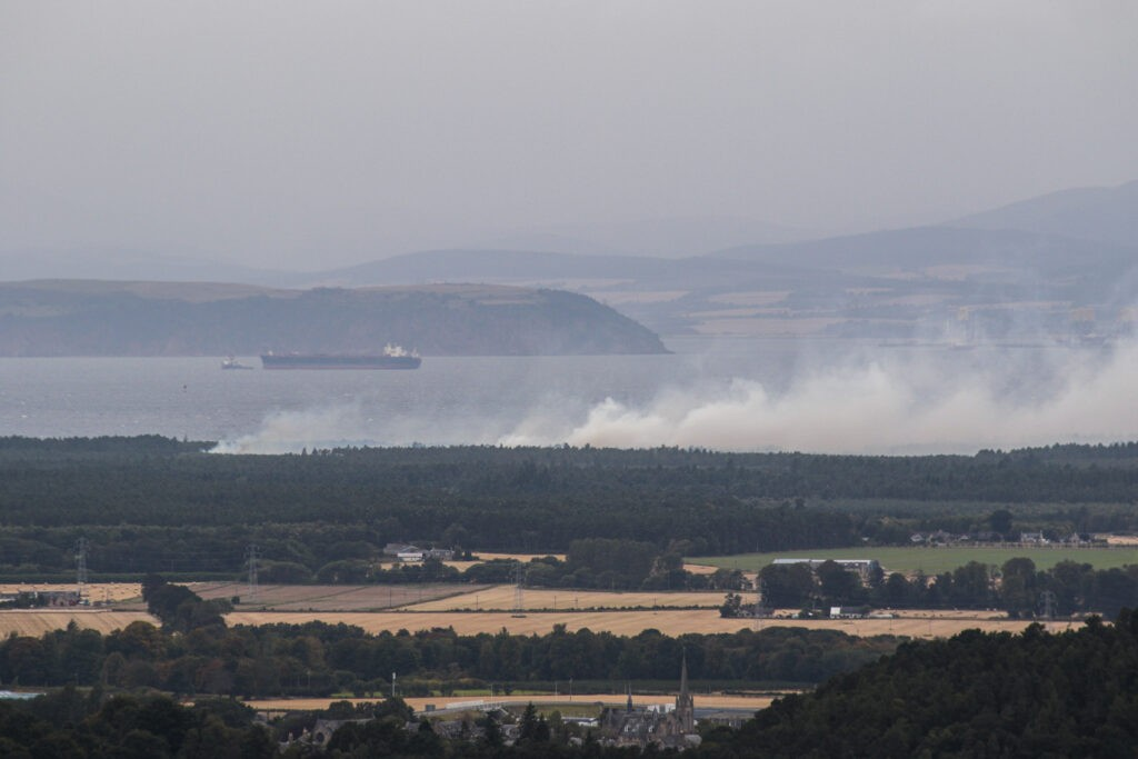 Fire, Culbin Forest, September 2020