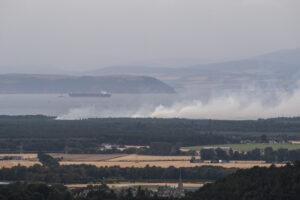 Fire, Culbin Forest, September 2020