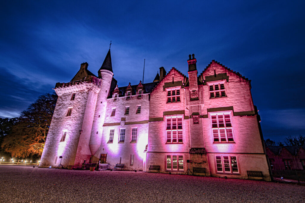 Brodie Castle, illuminated