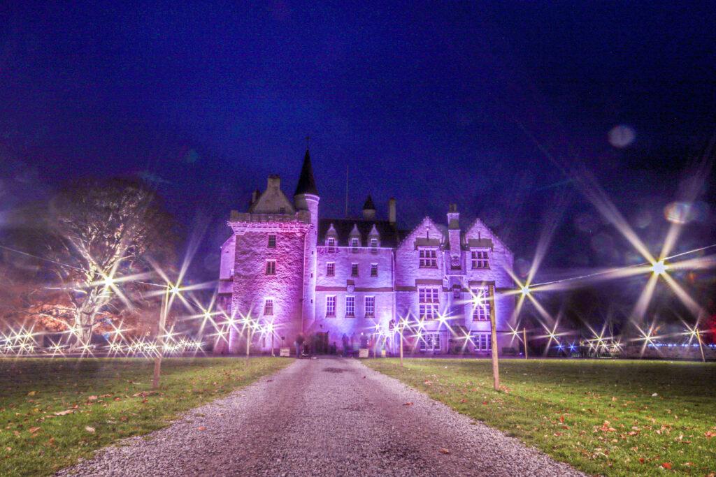Brodie Castle, illuminated