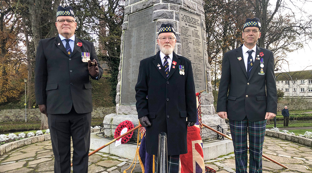 Remembrance Sunday Forres 2021
