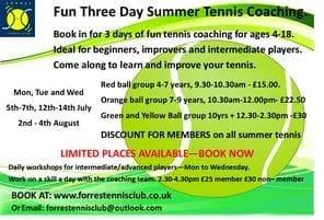 Forres Tennis Club fun tennis coaching