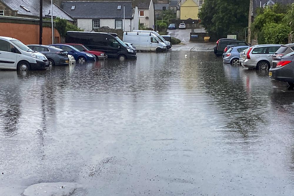 Flash floods forres