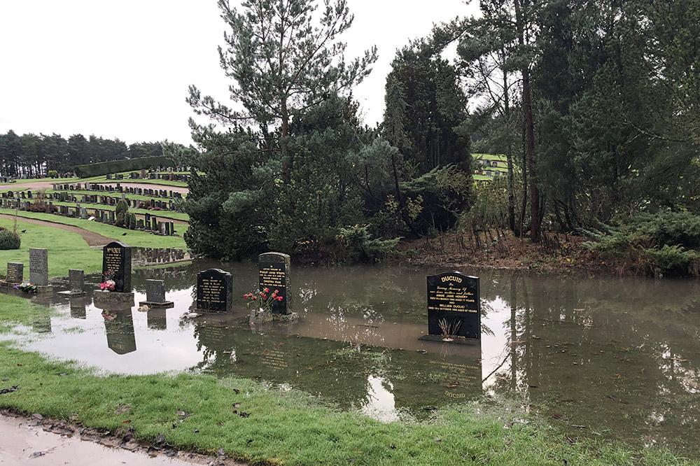 Clovenside flooding Forres