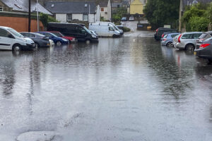 Flooding in Forres